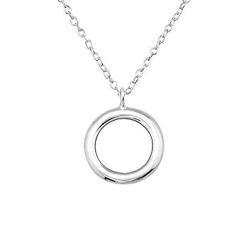 Cricle - 925 Sterling Silver Plain Necklaces - W35109X