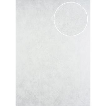 7,035 m2 tone on-tone wallpaper ATLAS 5137-1 non-woven wallpaper coined in the Shabby chic style shimmering white perl white
