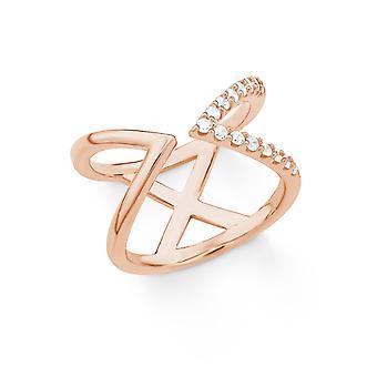 s.Oliver juvel damer ring sølv Rosé kubikk zirconia X 201860
