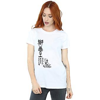 Disney kvinders Løvernes Konge stolthed Rock kalligrafi kæreste Fit T-Shirt