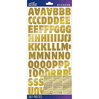 Sticko Alphabet Stickers-Gold Foil Motter Medium