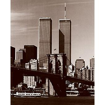 World Trade Center über die Brooklyn Bridge Poster Print von Walter Gritsik (8 x 10)