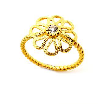 Orphelia Silver 925 Ring Gold  Zirconium   ZR-6017/2