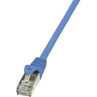 LogiLink RJ45 Networks Cable CAT 6 F/UTP 2 m Blue incl. detent