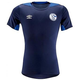 2018-2019 Schalke Umbro Training Shirt (Blue)