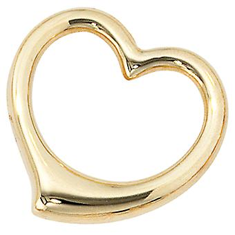 Children trailer swing heart 333 gold yellow gold heart pendants for kids