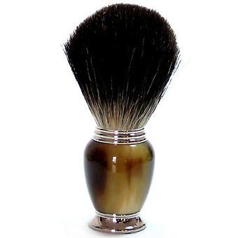 Shaving brushes obtain with genuine badger hair, Brown Galalithgriff