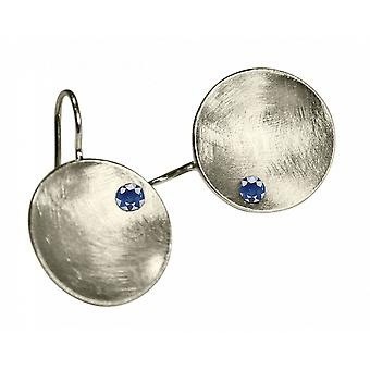 Ladies - earrings - earrings - 925 Silver - tray - Iolite - blue - 3 cm