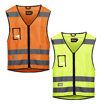 Snickers Hi Vis Vest. Class 2 (Multi Pockets) UK SUPPLIER-9153