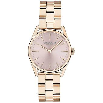 Coach kvinners moderne luksus Rose Gold Tone armbånd 14503206 Watch