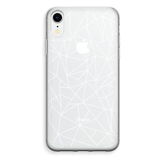 iPhone XR Transparant Case - Geometric lines white