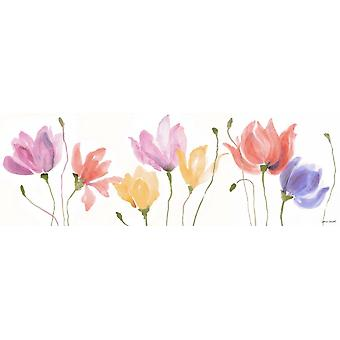 Sway Floral coloré panneau Poster Print par Lanie Loreth