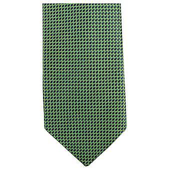 Knightsbridge Neckwear Small Pattern Tie - Green/Black