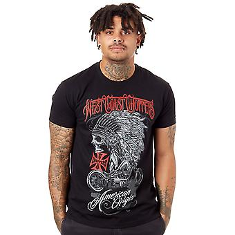 West Coast Choppers Solid Black Chief T-Shirt