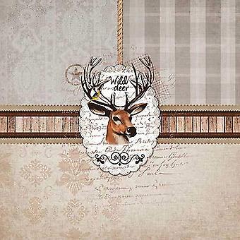 Ambiente 3 Ply Paper Napkins, Wild Deer