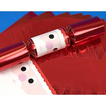 8 Standy Uppy Santa Face Make Your Own Christmas Crackers Kit