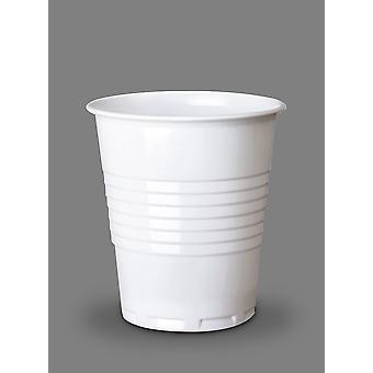 Weiße Einweg hocken kalte Tasse 7oz