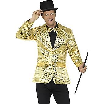 Sequin jakke, Mens, gull