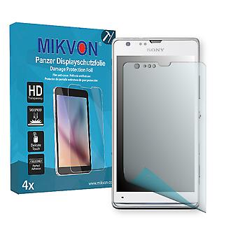 Sony Xperia SP LTE Screen Protector - Mikvon Armor Screen Protector (Retail Package with accessories)
