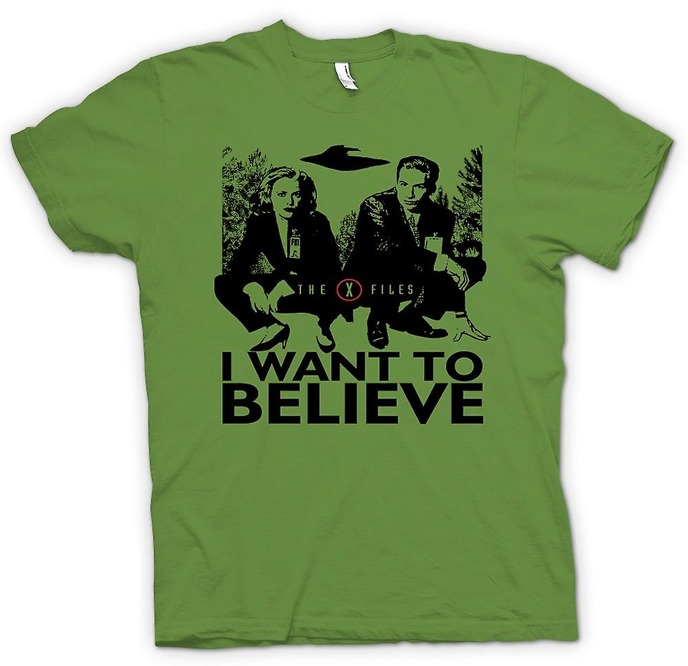Mens t-shirt-X Files voglio crederci - UFO