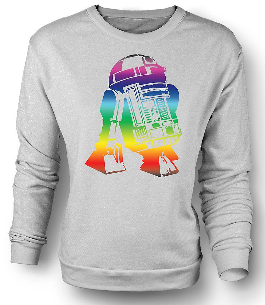 Mens Sweatshirt R2D2 Star Wars inspirerad Design