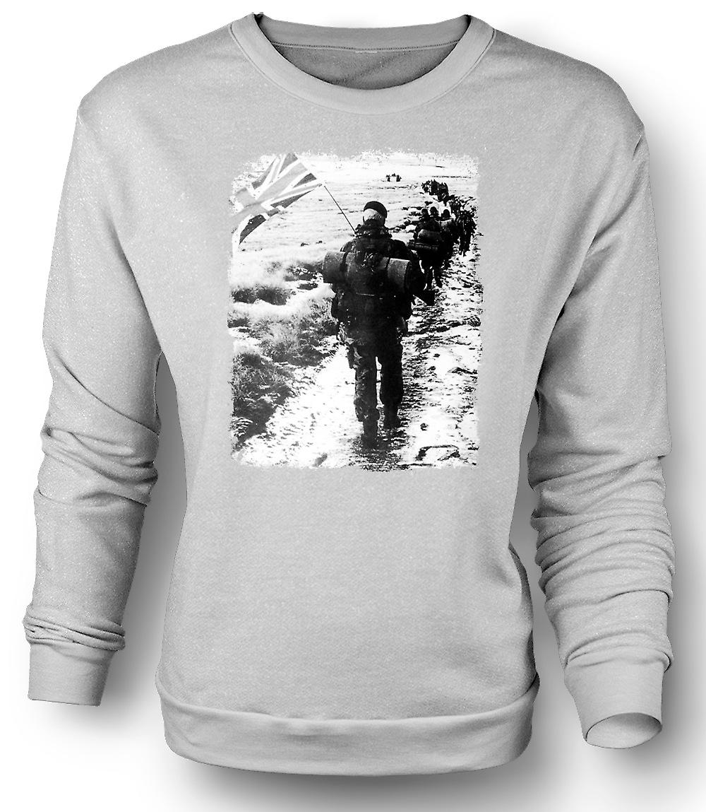 Mens Sweatshirt Royal Marines Falkland Yomp