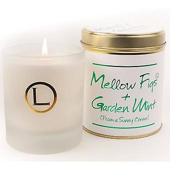 Lily Flame Scented Glassware Candle - Mellow Figs and Garden Mint