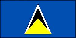 St. Lucia flagg 5 ft x 3 ft