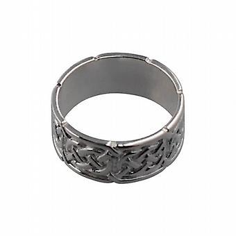 Zilveren 8mm Keltische trouwring maat L