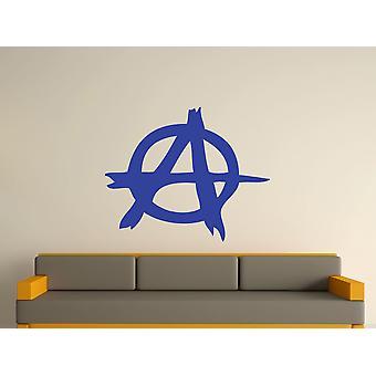 Anarchy Symbol Wall Art Sticker - Brilliant Blue