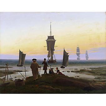 Les étapes de la vie, Caspar David Friedrich, 50x40cm