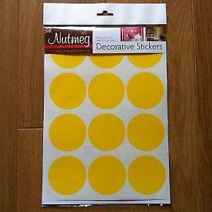 CIRCLES x 15 65mm  DECORATIVE STICKERS