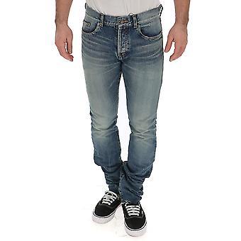 Saint Laurent Licht blauer Baumwolle Jeans