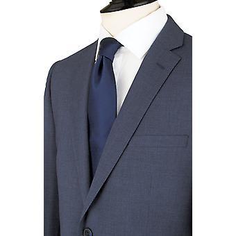 Dobell Mens Mississippi blau 2 Stück Anzug maßgeschneidert Fit Kerbe Revers