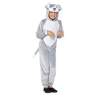 Grauer Hund Kinderkostüm Overall Unisex Karneval Jumpsuit Dog Costume