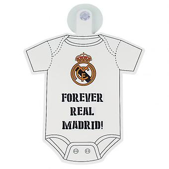 Real Madrid Baby On Board Sign
