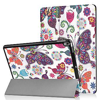 iPad Air 10,5 & iPad Pro 10,5 slim fit tri-voudige geval-vlinders en bloemen