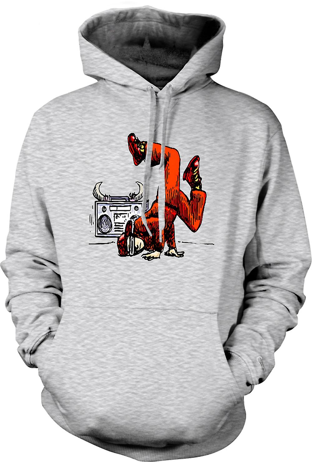 Mens Hoodie - Breakdance - Hip Hop - colore