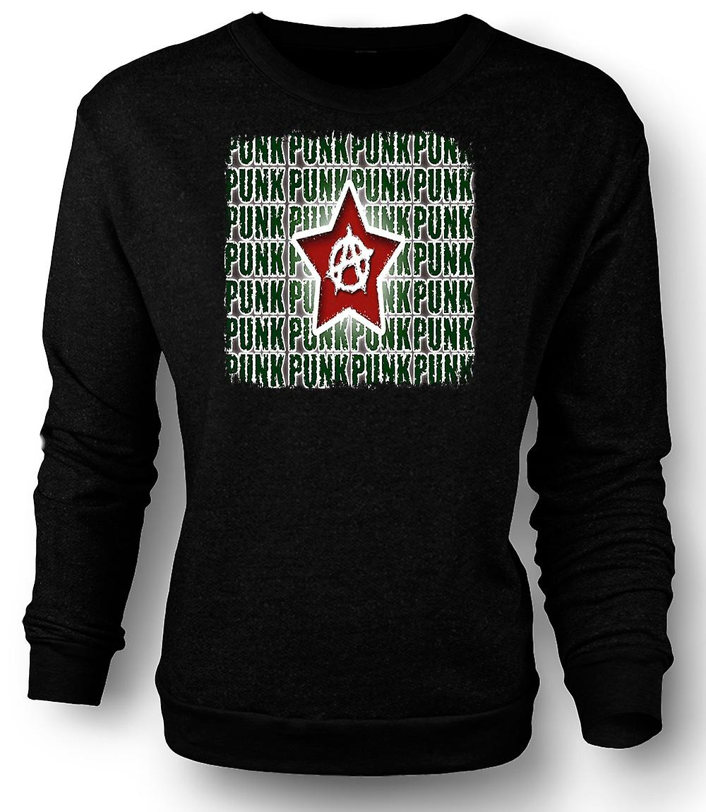 Mens Sweatshirt Punk Rock Anarchy - Design