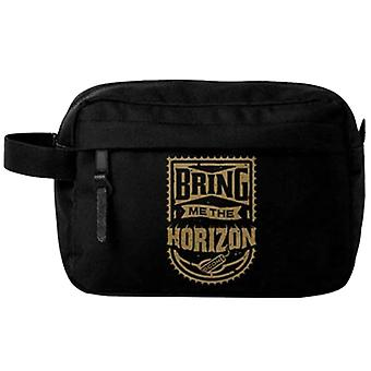 Bring Me The Horizon Wash Bag Gold Band Logo new Official Black