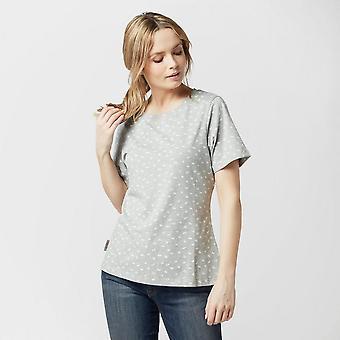 Nieuwe Peter Storm Women's Angel korte mouw T-shirt grijs