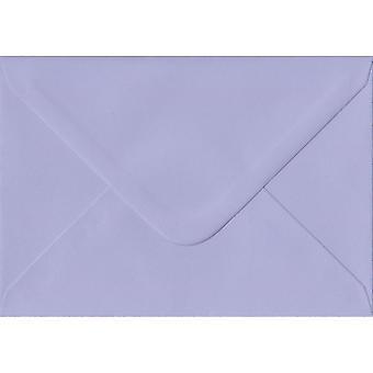 Lilac Gummed Greeting Card Coloured Purple Envelopes. 100gsm FSC Sustainable Paper. 125mm x 175mm. Banker Style Envelope.