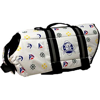 Paws Aboard Doggy Life Jacket Small-Nautical Dog S1300-N1300