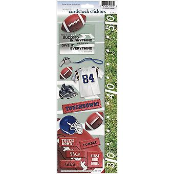 Paper House Cardstock Stickers Football Stcx 5E