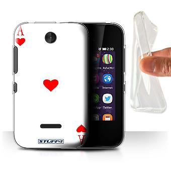 STUFF4 Gel/TPU/housse pour Nokia Asha 230/Ace of Hearts/jeu de cartes