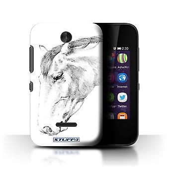 STUFF4 Case/Cover for Nokia Asha 230/Horse/Sketch Drawing