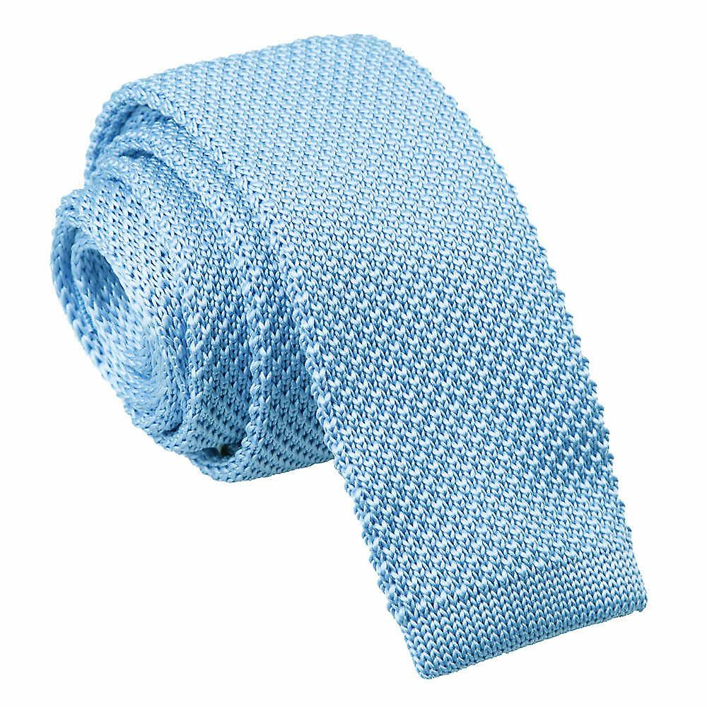 Baby Blue Skinny Knitted Tie