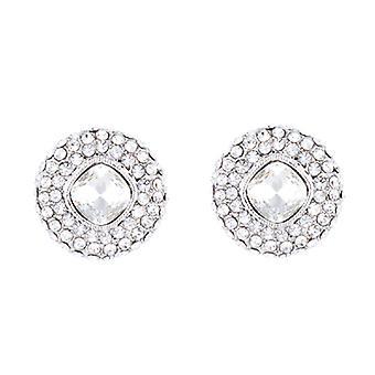 Butler & Wilson Pearl ronde vorm Pave Stud Earrings