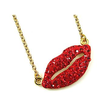 Butler and Wilson Hot Red Lips Pendant