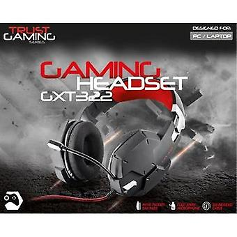 Gaming headset 3.5 mm jack Corded Trust GXT322 Dynamic Headset Over-the-ear Black/red